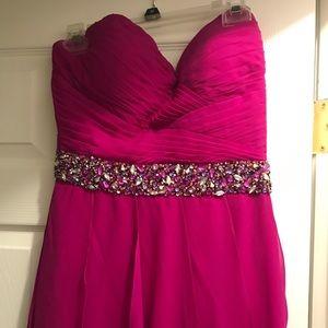 Pink hi-Low dress worn once